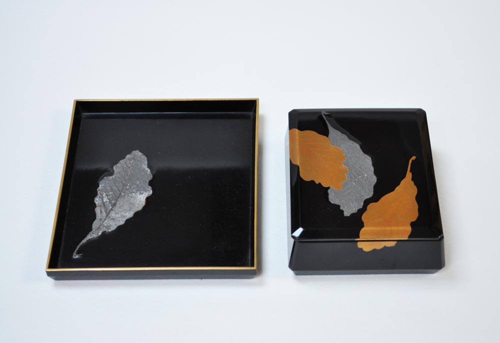 Lacquer box and tray