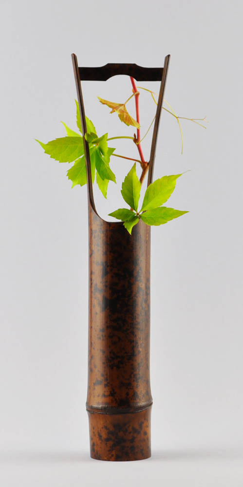 Bamboo vase. (Sold)
