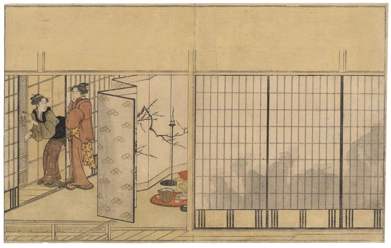 UTAMARO  (1753?-1806). A party scene