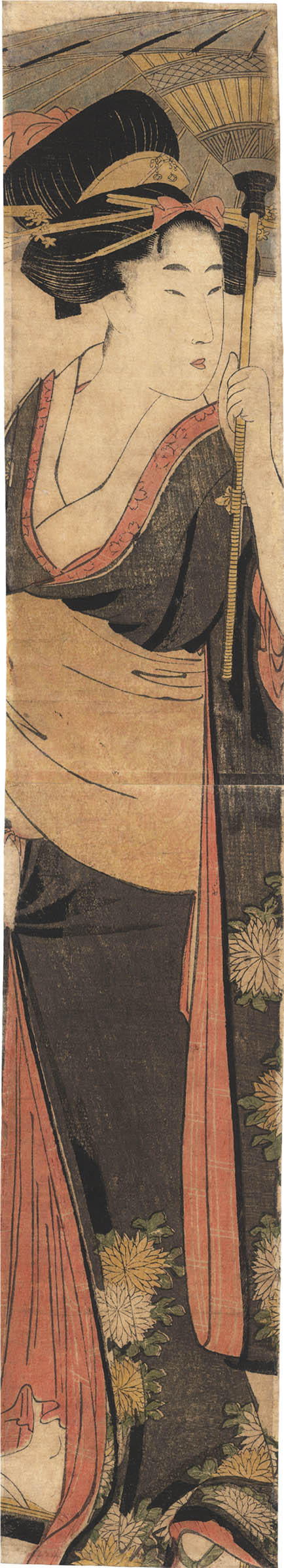 UTAMARO (1753 ?-1806). A lady with umbrella. (Sold)