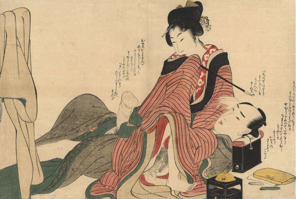 UTAMARO SCHOOL. Two lovers.