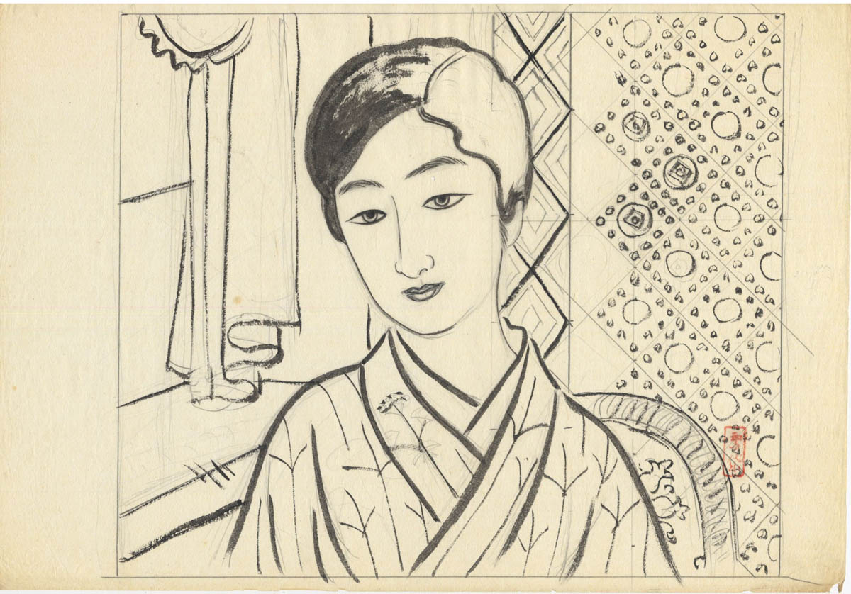 KOMURA SETTAI (1887-1940). Three drawings.