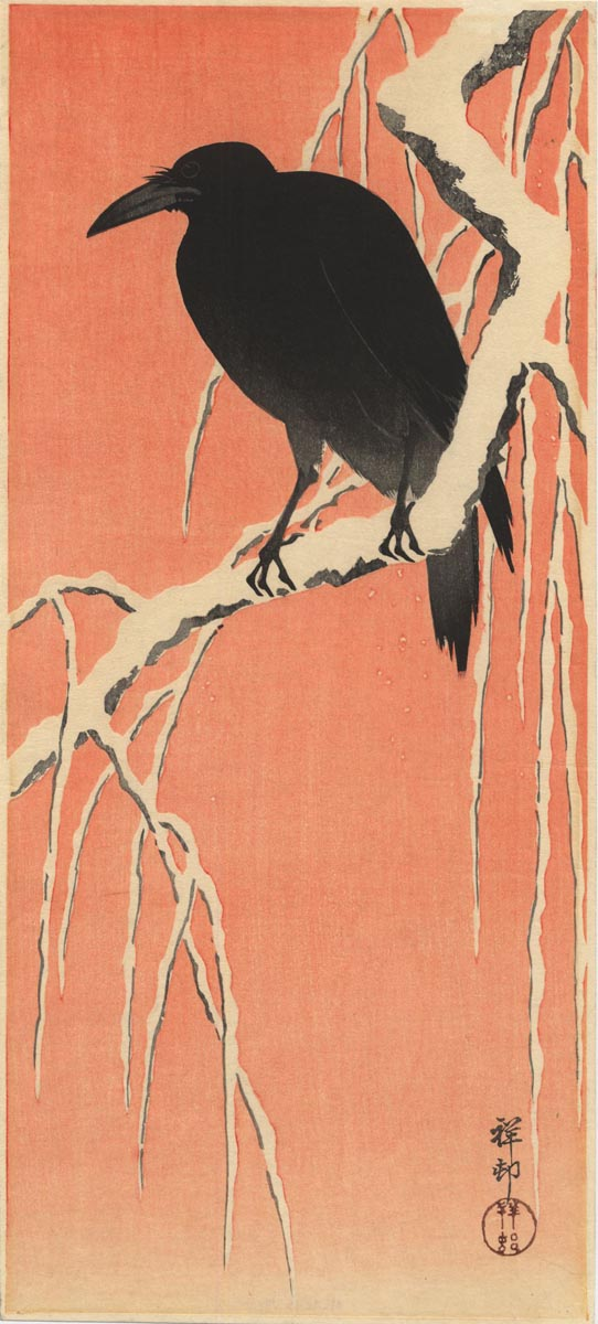 KOSON  (1877-1945). A crow. (Sold)